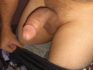 I want a wet pussy to sit on my curved dick