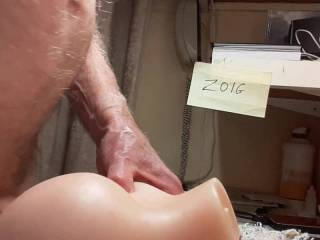 Thought I\'d have go with my sex toy. Finished with a nice cum shot.