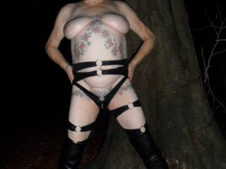 hi all the good thing about being in lockdown is that there is no one around to disturb us when we are taking a stroll in the forest at night. dirty comments welcome mature couple