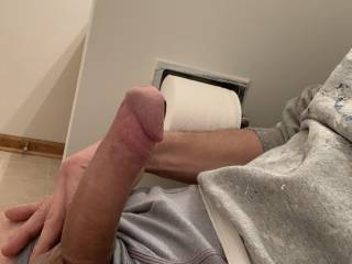 Just on a break at work. Was checking out friends pictures and got me super hard. Anyone want to suck or get fuck by this cock