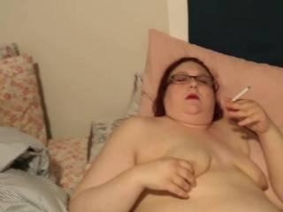 My sexy wife smoking and masturbating. Part 1