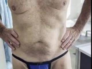 Mr. F, packing his pecker in the pouch, as he tries on his new undies for the first time. From Mrs. Floridaman
