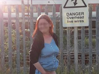 Doing a few flashing pics just as the train went by ... oops hope they didn\'t see anything ...lol