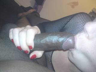 Who´s next? My hubby for sure. But I want that black cock in my throat!