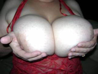 fantastic big boobs! she can slap me as much as she wants! :-)