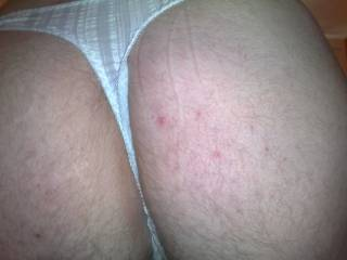 me in a friends panties again!!! can i wear an wank in ur panties??