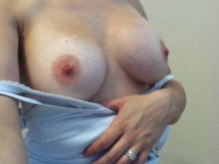 A little flash of the new boobies