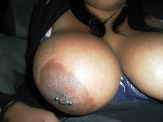 Wow! Those tits look big and juicy.