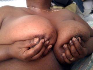 I want to get smothered in those huge beautiful titties while you sit on my cock.