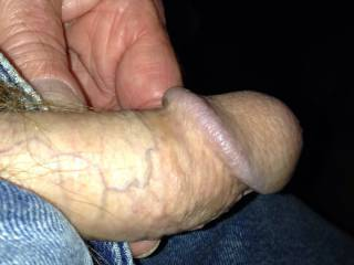 showing my cock to a chat friend.