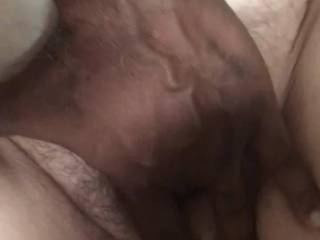 Getting that hairy pussy wet