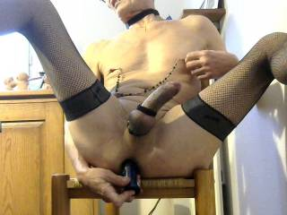 While waiting for meat toys strapon having you between my thighs