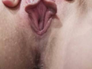 Just showing of my swollen pussy