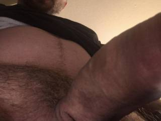 Ur view while on ur knees. Will u spot or swallow?
