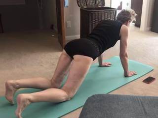 Any ZOIG guy like to join me for a little yoga downward doggy?  From Mrs. Floridaman