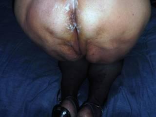 my butt covered of cum