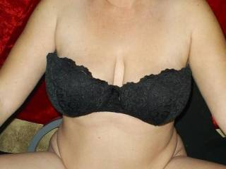 Flower showing off her new bra and panties set she bought for these pics...You Like?