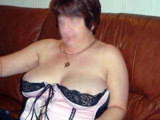 How's my cleavage looking?.