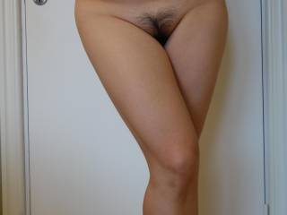 Love the way you cross a leg!  I agree with everyone on you having the perfect bush....makes me want to run my fingers through it....or tongue...I can certainly do that too.  Beautiful!!!!