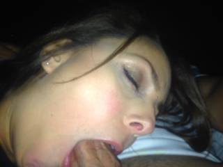 I'd like to be behind her sliding my cock in her wet pussy!