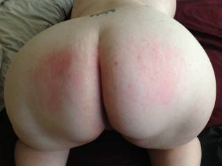 Would love to have heard the moans from those marks. Bet that ass has a nice wobble on it when you slap it?