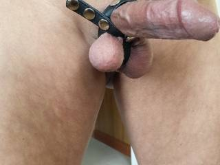I'd love to suck that cock and your balls.....I love your cock gear.  Mmmm, I want to suck you off.  Wanna slip that cock just like that into my hot wet married Asian pussy.  Just hold my hips and fuck me hard.  Ooooo, I bet I'll feel you cum.....yeah.  I'd love that.  MILF K