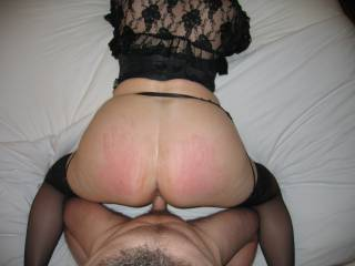 Love that red ass . Nice job spanking...