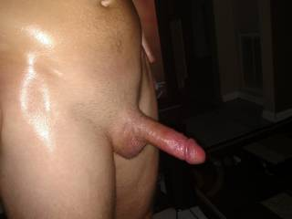 Oooooh fuck yes. It looks delicious, can I suck on it for a while... FUCK!  I want to suck and swallow that sexy looking cock. I love this sexy cock picture.  Thanks for posting it.