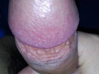 Watch my poor cock after 4 days of intense edging, even his hole is opening up. You see the redness on the base of his head? He was all sore, dry and had big diffuculties getting erect.    That will teach him getting erect in public places all the time.