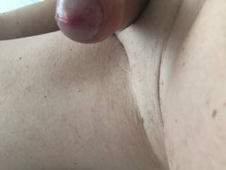 Need some hot lips on the tip of my wet cock now. As I get ready to cum xx