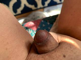 My small Asian cock is resting with a bit of sunlight