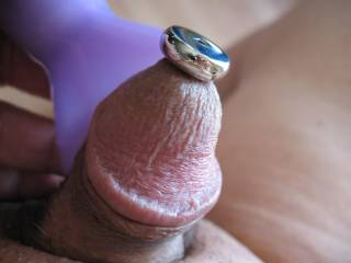 My cute little cock is all stuffed up and loving it.  Do you have a good look here?