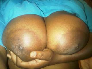Big ebony tits waiting on me