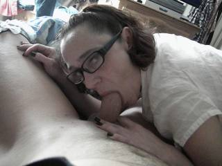 awesome lady and so sweet eyes and so sexy blowing with ainted fingernails
