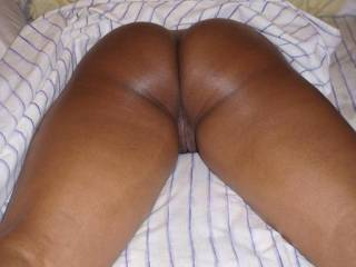 nicely done great display of her legs ,thighs pussy and butt now she needs a cock in her