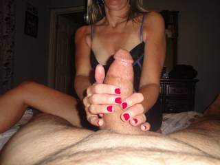 I love to get him nice and hard before I let him touch my pussy. Do you think that\'s naughty or nice?