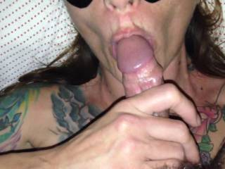 Me and the girl getting warmed up. Who else wants to suck my dick? Who wants their dick sucked by her?