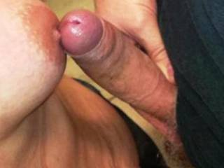 Mmmm..I'd love to cum on that nipple and watch Mrs. Messy lick it all up!