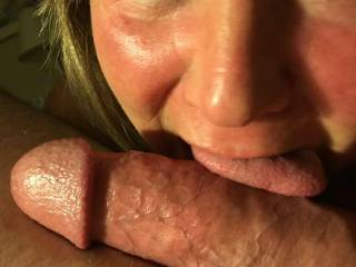 Teasing me with her tongue and her beautiful eyes!  Isn\'t she stunning?