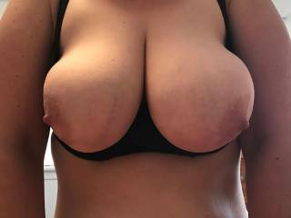 This sexy shelf bra my wife is wearing has been the most cock stiffing bra she\'s ever worn for my pleasure.