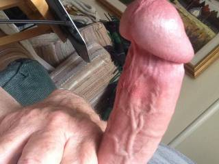 In the midst of a slow stroke session.