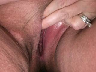 Playing with my pussy, needing the real thing!!