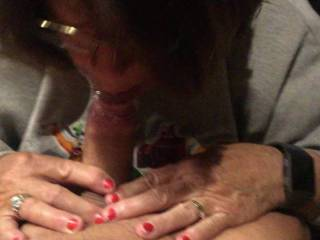 Wife giving me a great blowjob. What do you think?