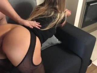 Doggy style on the couch