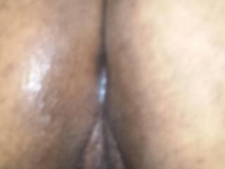 bent over showing her creamy pussy