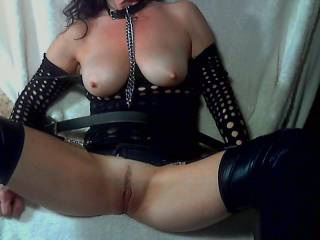 I was tied up and fucked hard. My little pussy was so sore!
