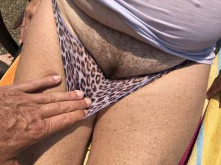Getting ready to eat and fuck her hot mature pussy.
