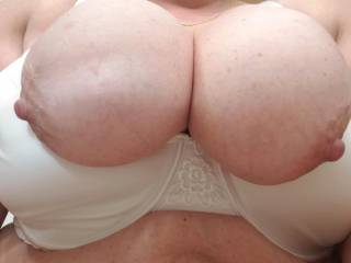 My slut showing me her tits today.
