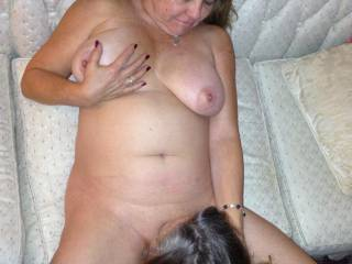 Wife\'s GF eating her pussy..