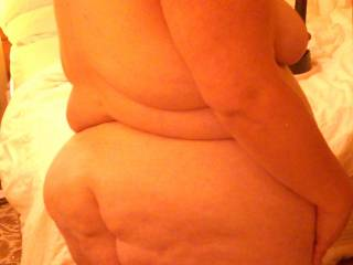 I need a big black cock to bend me over and fuck me in this fat white ass